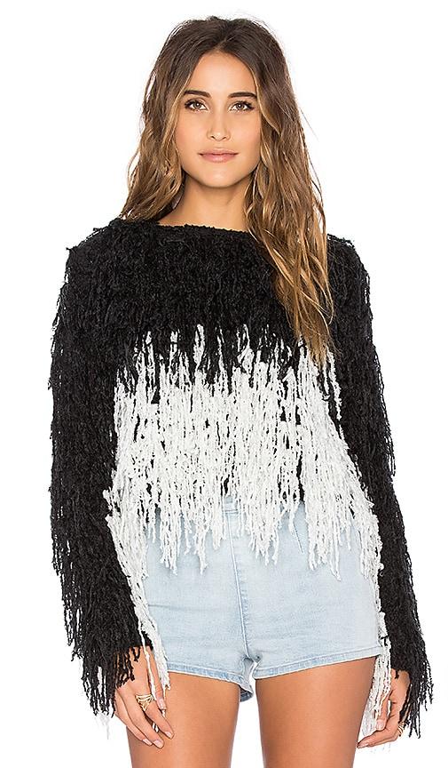 Indah Joi Shag Pullover in Black