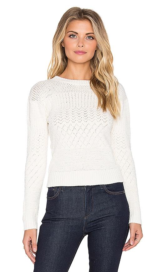Indah Jane Knit Crop Sweater in Ivory