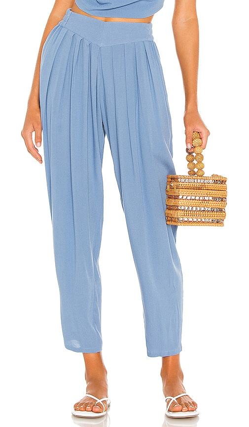 Vintage Pants   High Waisted, Jeans, Sailor Pants Indah Tanah Solid 80s Pleated Trouser in Blue. - size ML also in SM XSS $163.00 AT vintagedancer.com