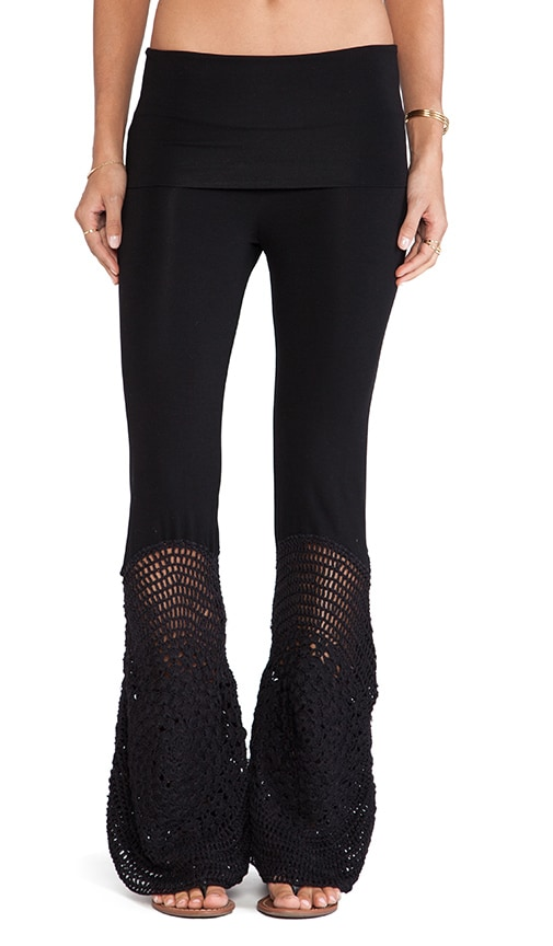 Trigger Lounge Pant with Crochet Flare
