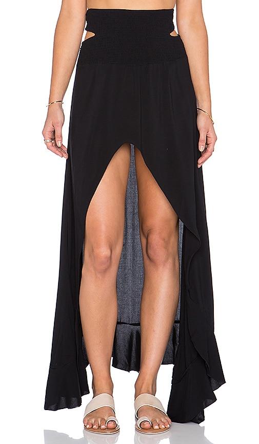 Kodiak Hi Lo Ruffle Maxi Skirt
