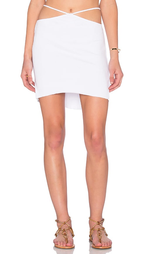Indah Bridgette Cutout Mini Skirt in White