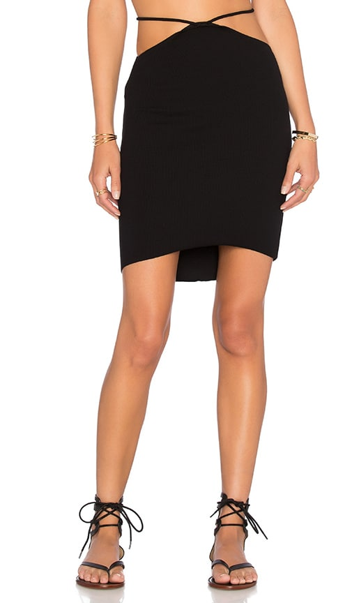 Indah Bridgette Cutout Mini Skirt in Black