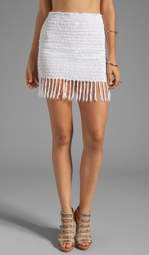 Bronte Smock Fringe Mini Skirt