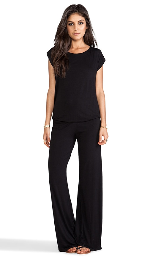 Sooty Open Back Lounge Pantsuit