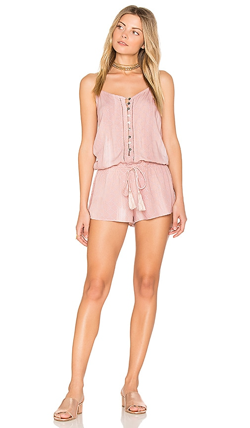 Indah Saxon Romper in Blush