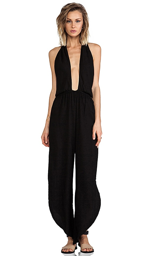 Pearl Cross Front Halter Jumpsuit