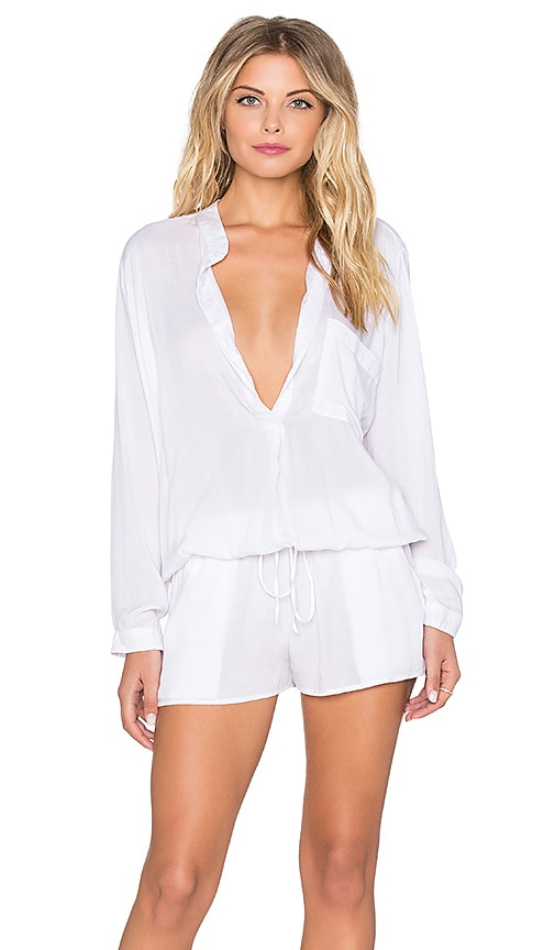 Indah Plateau Utility Romper in White