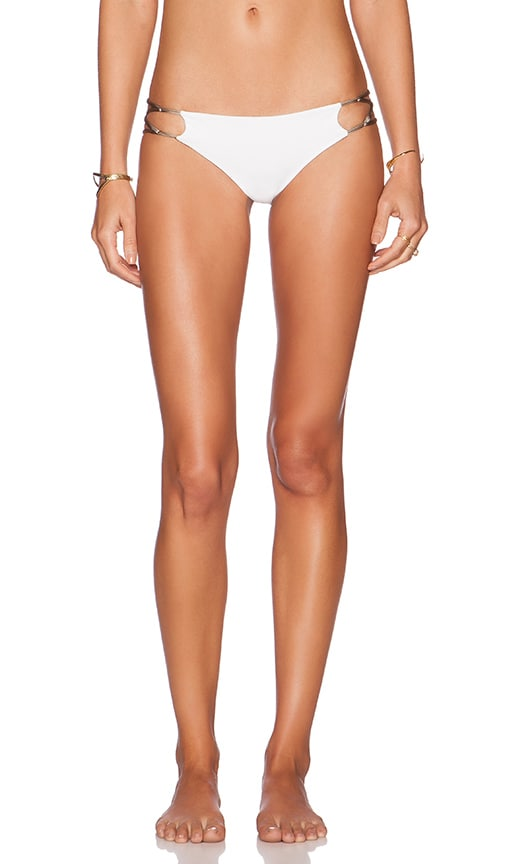 Indah Sasa Low Bottom Lace and Loop Up Bottom in White/Stone