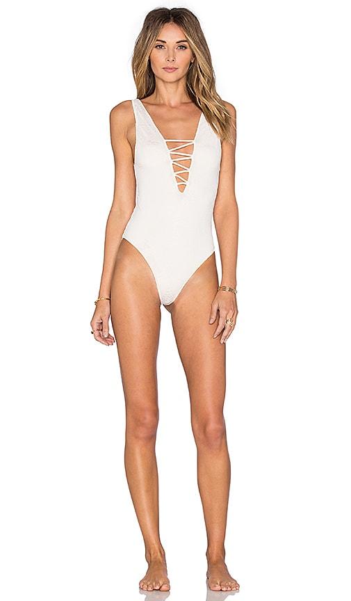 35ed47650d Indah Kennedy Reversible Swimsuit in Cream | REVOLVE