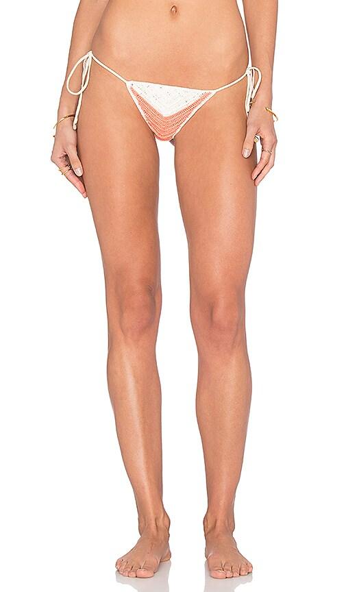 Indah Kumi Crochet Bikini Bottom in Coral
