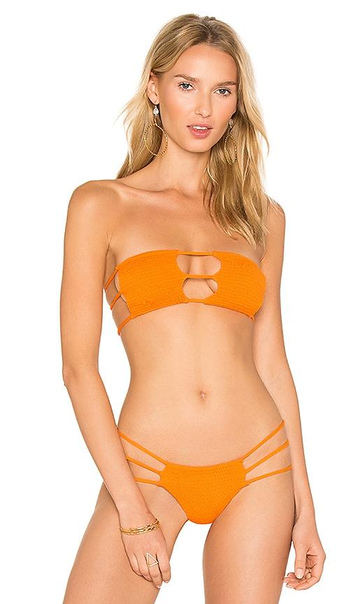 Indah Moto Top in Orange