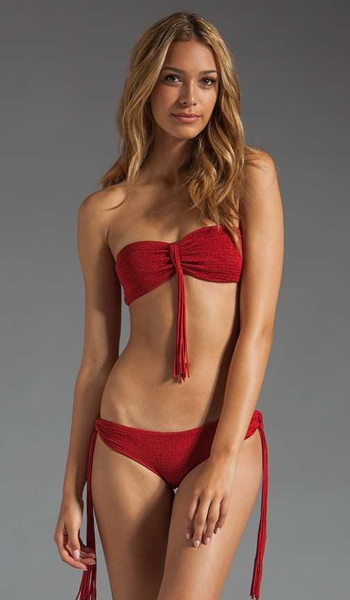 Bandeau With Fringe Knot