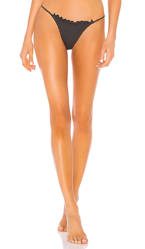 Bali Skimpy Solid Ruched Fixed Side Bottom