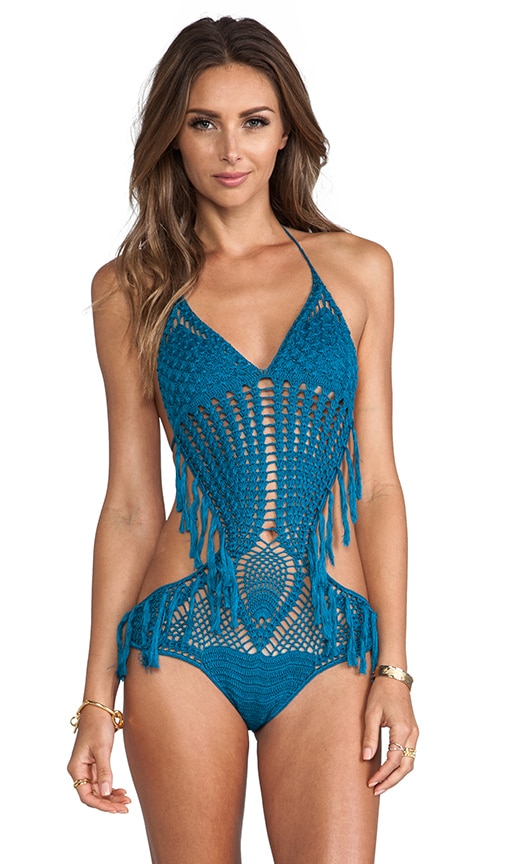Sports Illustrated Marley Hand Crochet Fringe MC One Piece