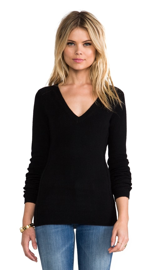 Cashmere Stretch V-Neck Sweater