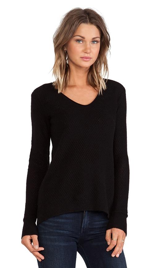Cashmere Lace V-Neck Sweater