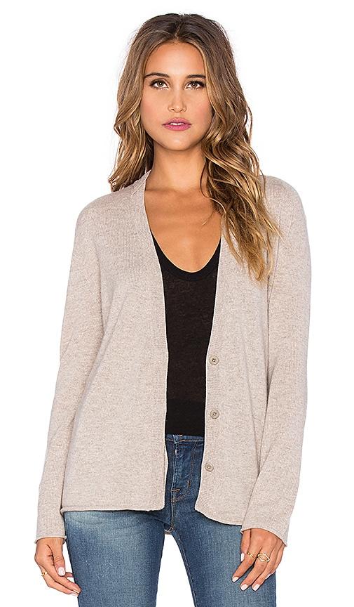 Inhabit Cashmere Zip Sleeve Cardigan in Tweed