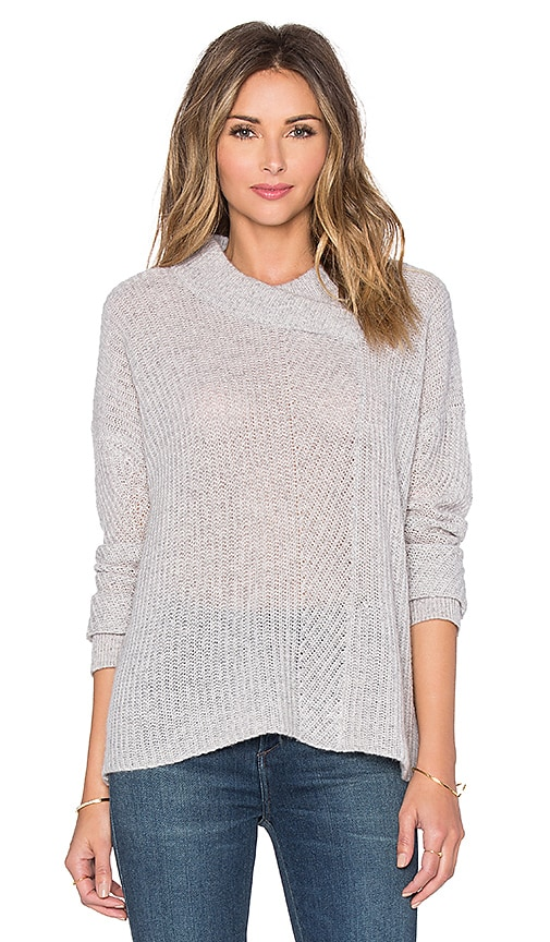 Inhabit Marled Shaker Sweater in Felt