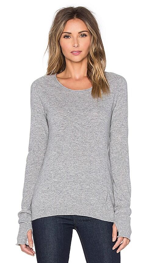 Inhabit Thumbhole Stretch Sweater in Felt