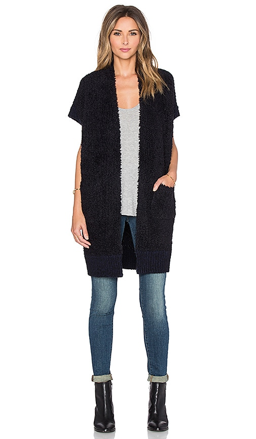 Inhabit Drapey Vest in Navy