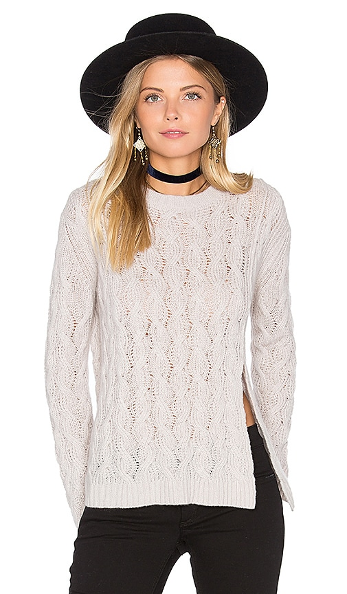 Inhabit Cashmere Crop Sweater in Gray
