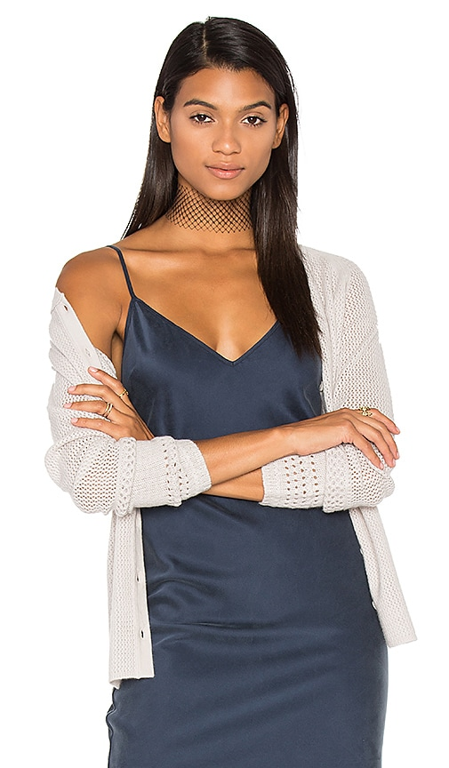 Inhabit Button Front Cardigan in Light Gray