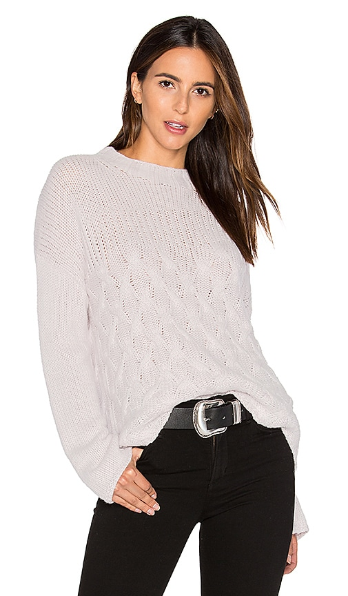 Inhabit Mix Stitch Sweater in Light Gray