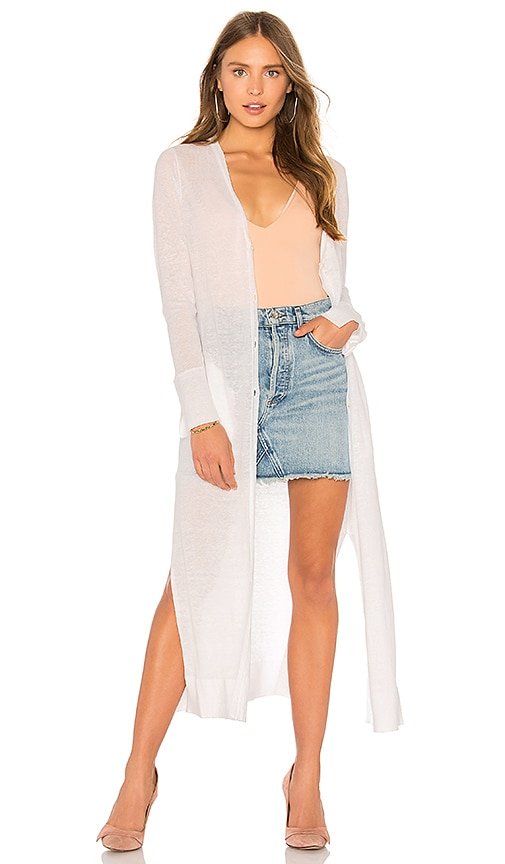 Inhabit Gilet Cardigan in White