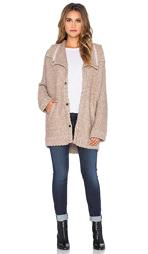 Inhabit Bohemian Slub Coat in Tweed