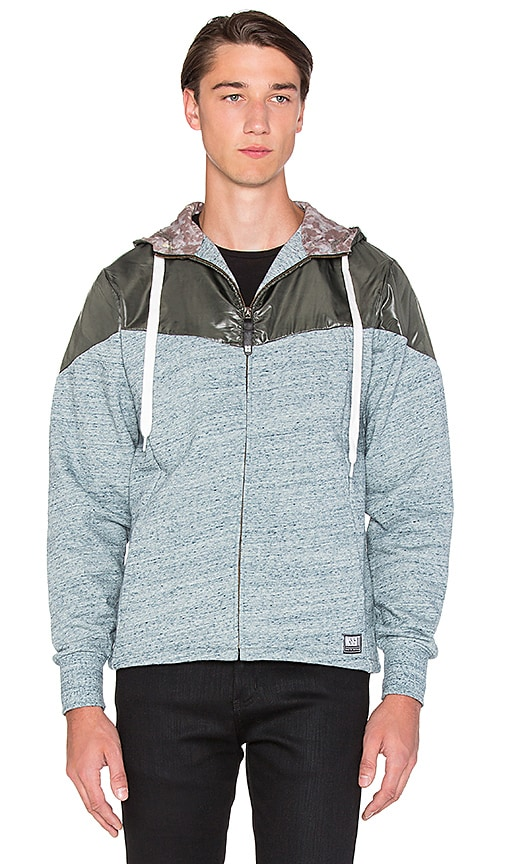Insight Deep Mirror Zip Up Hoodie in Navy