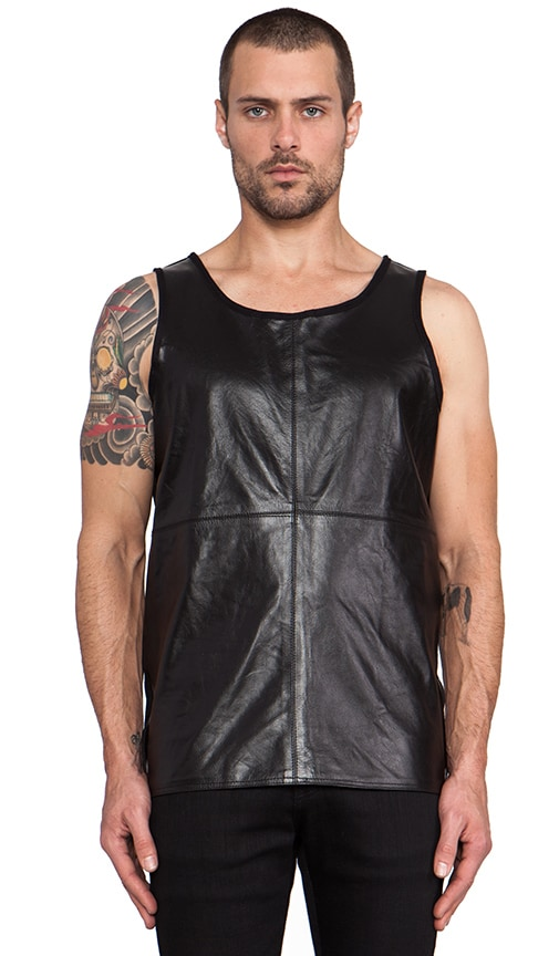 Loose Leather and Cotton Tank