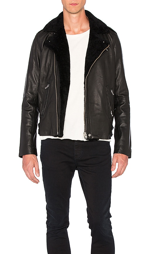 IRO Ebbe Sheep Shearling Jacket in Black