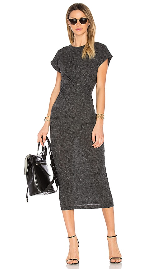 IRO Pacson Dress in Charcoal