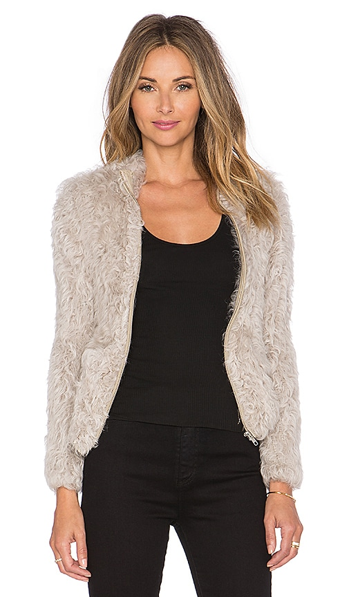 IRO Kald Lamb Shearling Jacket in Beige