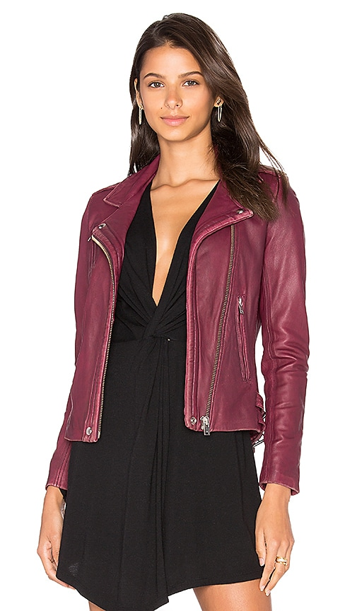 IRO Han Jacket in Wine