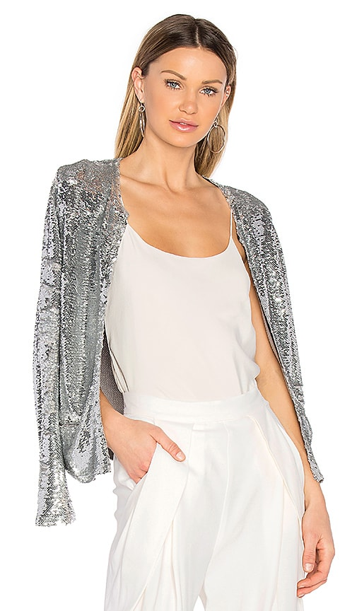 IRO Omana Jacket in Metallic Silver