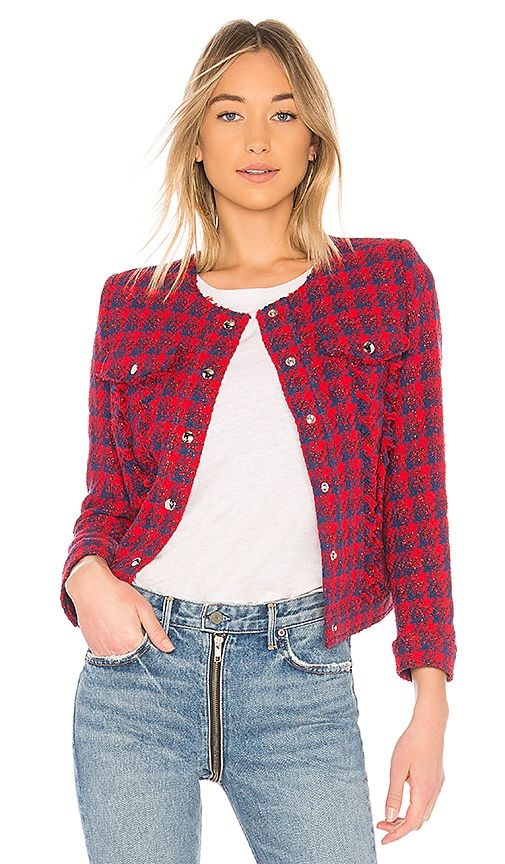 IRO Quilombe Jacket in Red