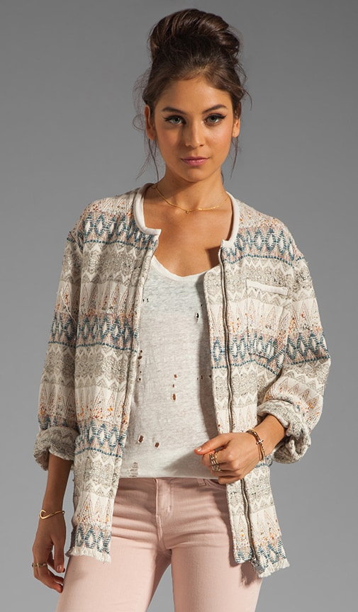 Oscar Tribal Oversized Jacket