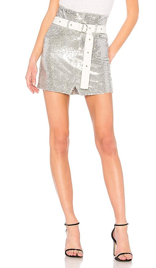 44632ab4a IRO Natou Skirt in Silver & White | REVOLVE