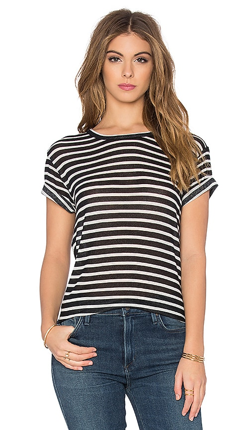 IRO Ludvig Stripe Tee in Black & White