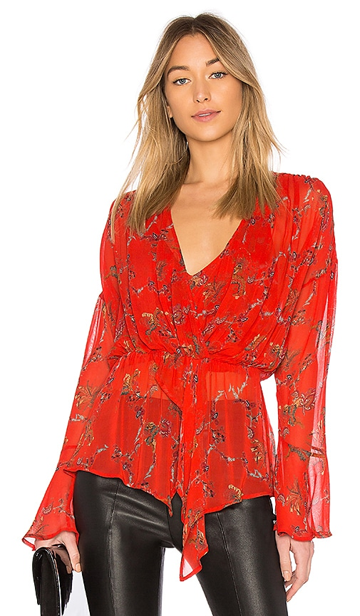 IRO Linette Top in Red