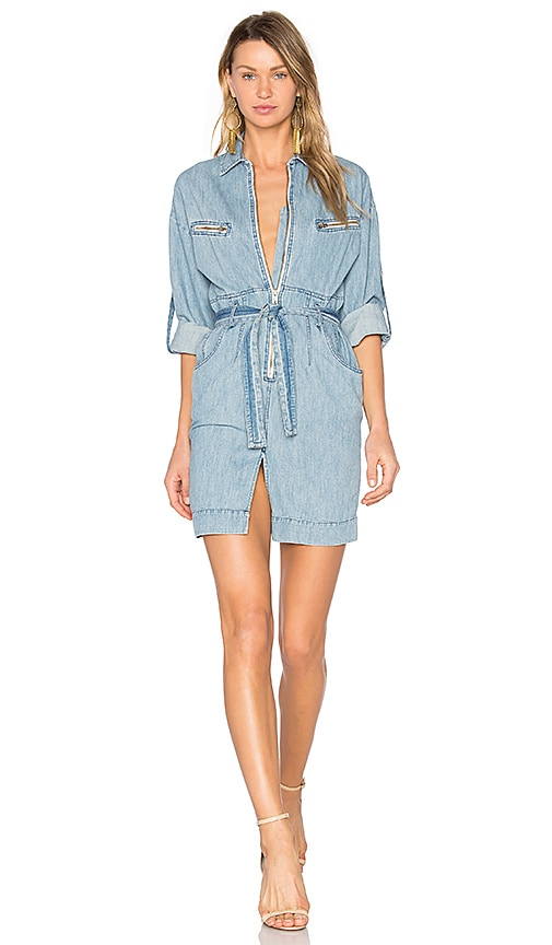 IRO . JEANS Phibie Dress in Stone Blue