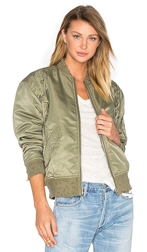 IRO . JEANS Atilla Bomber Jacket in Green