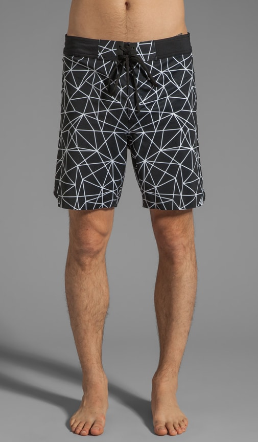 Geo Light Printed Welded Stretch Board Short