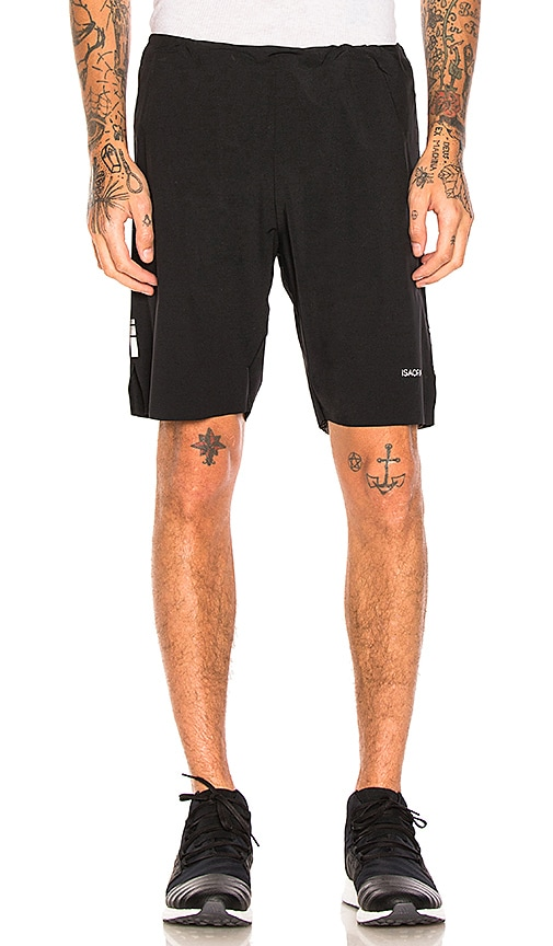 ISAORA Welded Running Shorts in Black