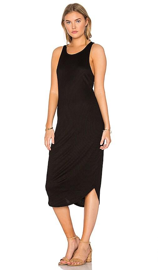 Issa de' mar Kirra Ribbed Dress in Black
