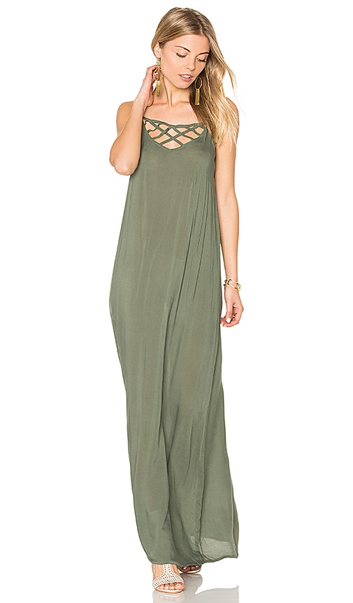 Issa de' mar Hina Maxi Dress in Green