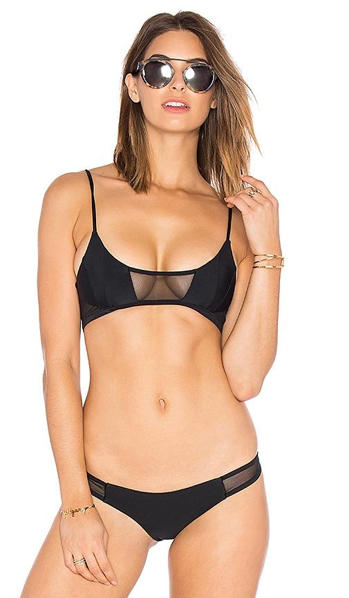 Issa de' mar Kaili Mesh Bikini Top in Black Mesh