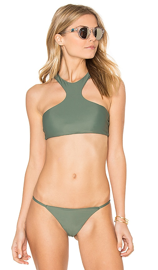 Issa de' mar Sola Bikini Top in Green